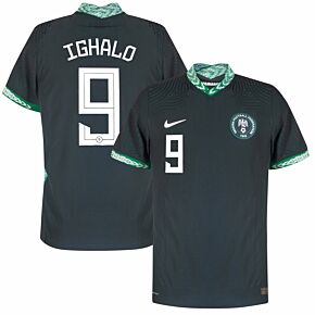 20-21 Nigeria Away Vapor Match Shirt + Ighalo 9 (Official Printing)