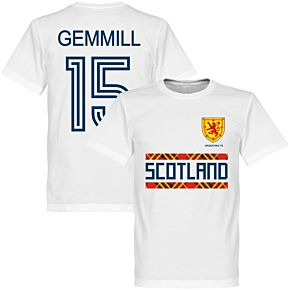 Scotland Retro '78 Gemmill 15 Team Tee - White