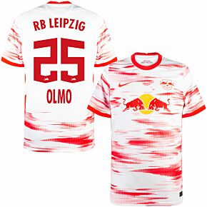 21-22 RB Leipzig Home Shirt + Olmo 25 (Official Printing)