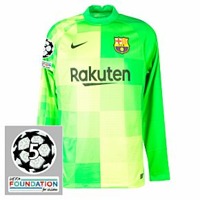 21-22 Barcelona Away L/S GK Shirt + UCL Patches