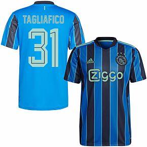 21-22 Ajax Away Shirt + Tagliafico 31 (Fan Style Printing)