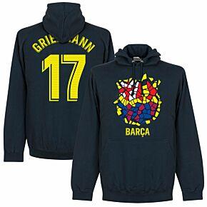 Barcelona Griezmann 17 Gaudi Crest Hoodie - Navy