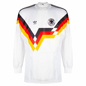 adidas Germany 1990-1992 Home Shirt L/S - USED Condition (Great) - Size M