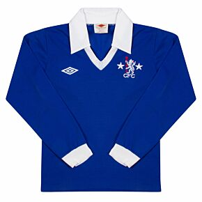 Umbro Chelsea 1975-1977 Home L/S KIDS Shirt - USED Condition (Excellent) - Size KIDS 158cms