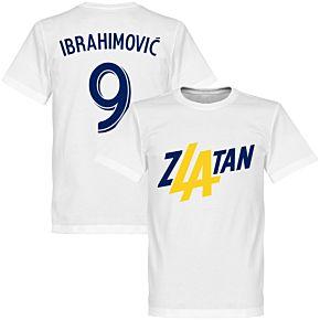 Zlatan Ibrahimovic 9 LA Tee - White