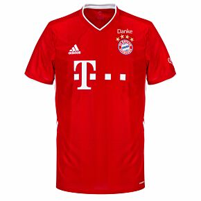 20-21 Bayern Munich Home Shirt + Danke Patch