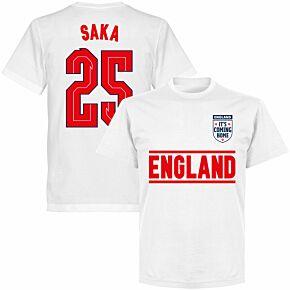England Saka 25 Team KIDS T-shirt - White