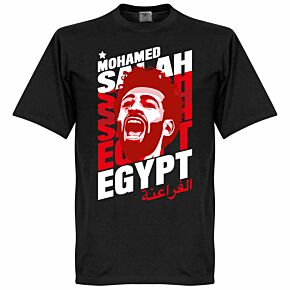 Salah Egypt Portrait KIDS Tee - Black