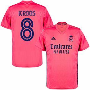 20-21 Real Madrid Away Shirt + Kroos 8 (Official Club Printing)