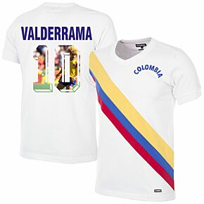 72-73 Colombia Retro Shirt + Valderrama 10 (Gallery Printing)
