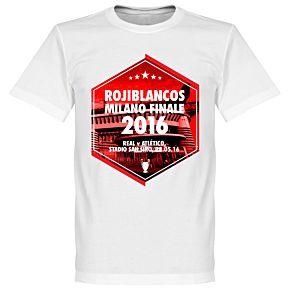 2016 Rojiblancos Milano Finale Tee - White