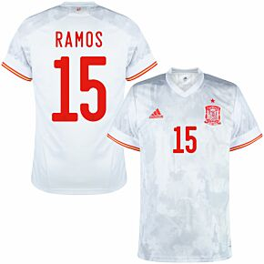 2021 Spain Away Shirt + Ramos 15 (Official Printing)