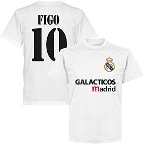 Galácticos Madrid Figo 10 Team T-shirt - White