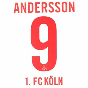 Anderson 9 (Official Printing) - 20-21 1. FC Köln Home