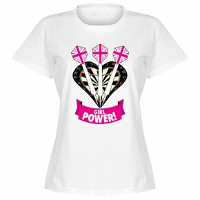 Darts Girl Power Womens T-Shir t - White