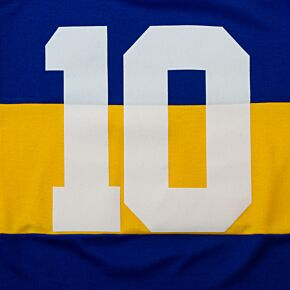 No.10 (Maradona) - Retro Flock Printing