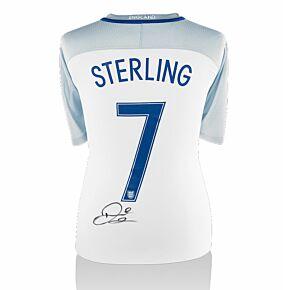 Raheem Sterling Signed England 16-17 Home Shirt (Back Signed)