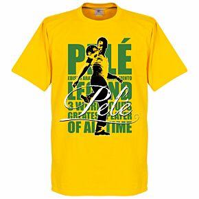 Pele Legend Tee - Yellow