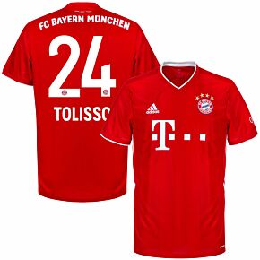 20-21 Bayern Munich Home Shirt + Tolisso 24