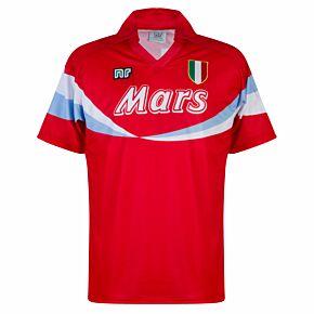 90-91 Ennerre Napoli 3rd Retro Shirt (Mars Sponsor) - Red