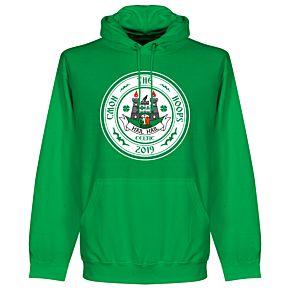 C'mon the Hoops Celtic Crest Hoodie - Green