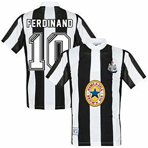 1996 Newcastle United Away Retro Shirt + Ferdinand 10