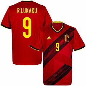 20-21 Belgium Home Shirt + R.Lukaku 9