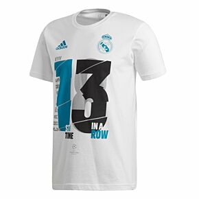 adidas 2018 Real Madrid 13x KIDS Champions League Winners Tee