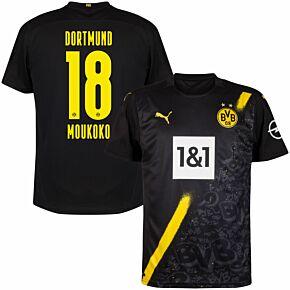 20-21 Borussia Dortmund Away Shirt + Moukoko 18 (Official Printing)
