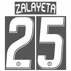 Zalayeta 25 - 07-09 Napoli Home Official Name and Number