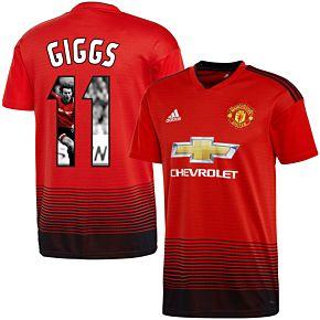 Man Utd Home Giggs 11 Jersey 2018 2019 (Gallery Style Printing)