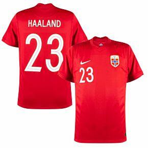 20-21 Norway Home Shirt + Haaland 23 (Official Printing)