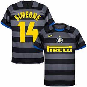 20-21 Inter Milan 3rd Shirt + Simeone 14 (Retro Fan Style)