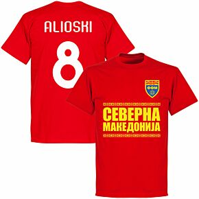 North Macedonia Alioshi 8 Team T-shirt - Red
