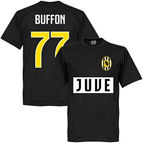 Juve Buffon 77 Team T-shirt - Black