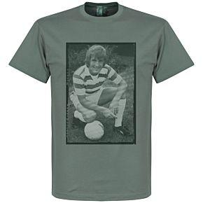 Dalglish Celtic Retro Tee - Zinc