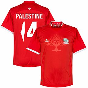 Palestine Home Jersey 2016 / 2017 + Palestine 14 (Fan Style Printing)
