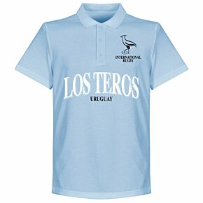 Uruguay Rugby Polo Shirt - Sky