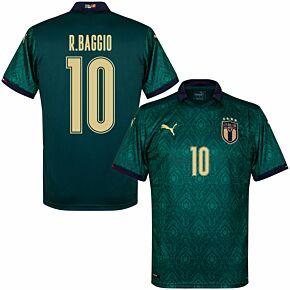 19-20 Italy Renaissance 3rd Shirt + R.Baggio 10 (Fan Style Printing)