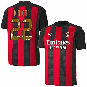 20-21 AC Milan Home Shirt + Kaka 22 (Gallery Style)