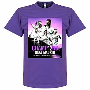 2017 Madrid Champions Tee - Purple