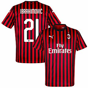 19-20 AC Milan Home Shirt + Ibrahimovic 21