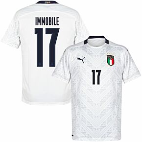 20-21 Italy Away Shirt + Immobile 17 (Official Style)