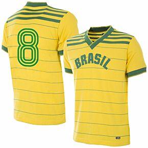 1984 Brazil Home Retro + No.8 (Retro Flock Printing)