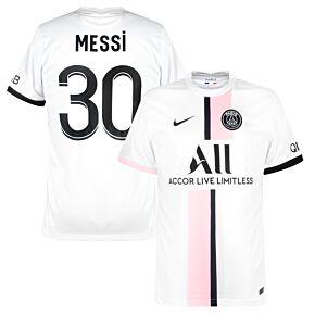 21-22 PSG Away Shirt + Messi 30 (Fan Style Printing)