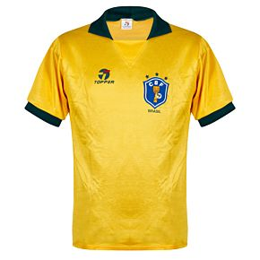 Topper Brazil 1988-1990 Home Jersey S/S - USED Condition (Great) - Size XL