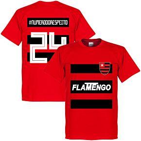 Flamengo #NumeroDoRespeito 24 Team T-shirt - Red