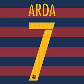 Arda 7 - Barcelona Home Official Name & Number 2015 / 2016