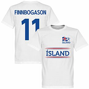 Island Finnbogasson 11 Team Tee - White