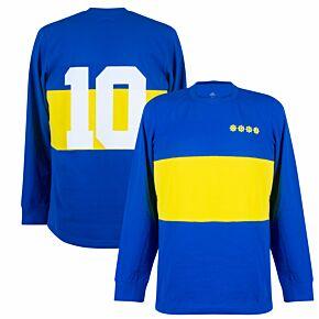 21-22 Boca Juniors L/S Retro T-Shirt + No.10 (Maradona)